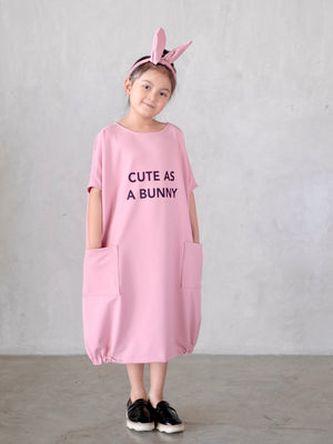 """Cute as a Bunny"" Enid Dress (with bunny headband)"