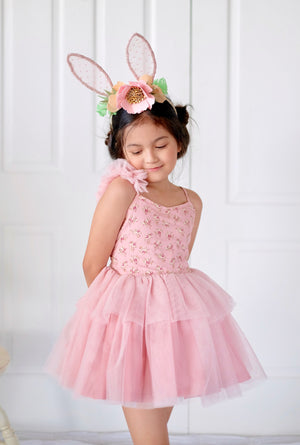 Skylar Tutu Dress Set (Ditsy Floral in Pink) - BACKORDER - ETD 4/8/2019