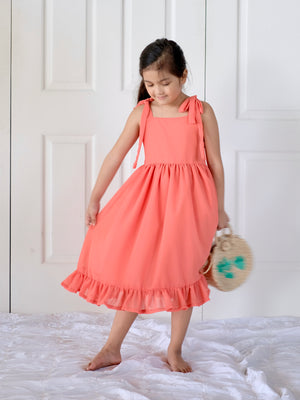 Cami Midi-Dress (Living Coral)