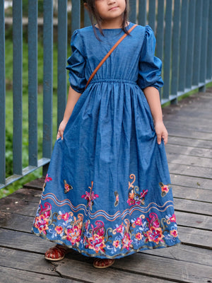 Aurora Denim Maxi Dress
