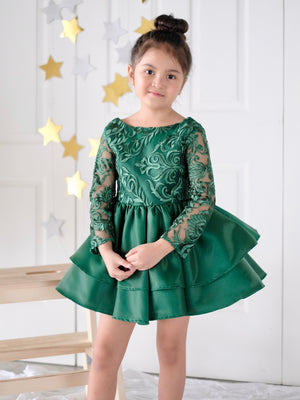 Darla Holiday Dress (Green) / Preorder 11.20.2018