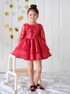Darla Holiday Dress (Red) - Pre-order 11.20.2018