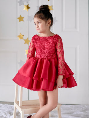 Darla Lace Dress - Red