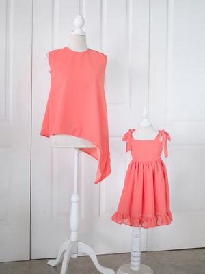 Living Coral Asymmetrical Top (Adult Size)