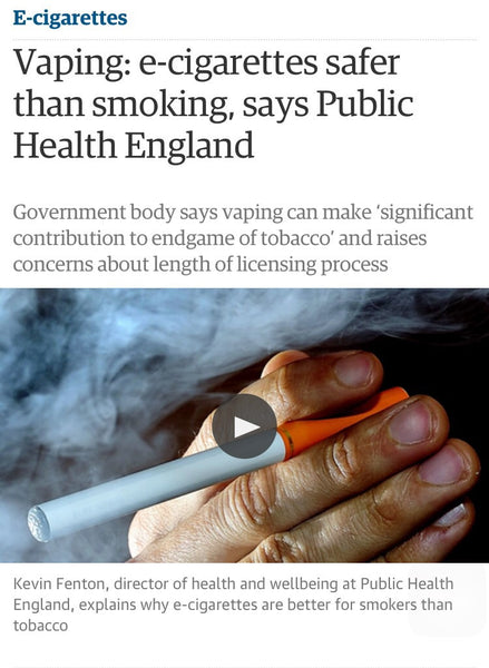 Is Vaping safer than smoking