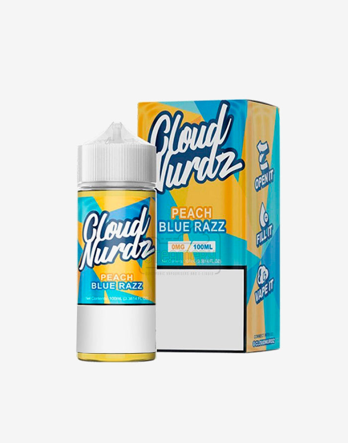 Cloud Nurdz Peach Blue Raspberry 100ml - Steam E-Juice | The Steamery
