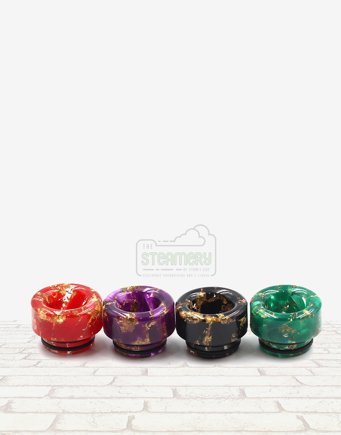810 Gold Flake Resin Drip Tip - SL234 - Steam E-Juice | The Steamery