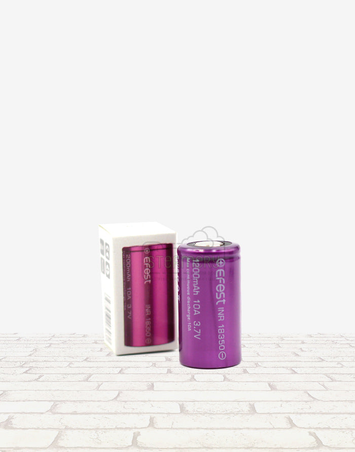 Efest 18350 1200mah 10A Battery - Steam E-Juice | The Steamery