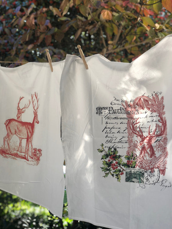 Holiday flour sack towel sets- select from 3 sets