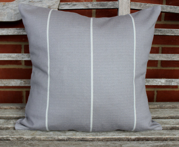Copy of pillow cover- grey stripe