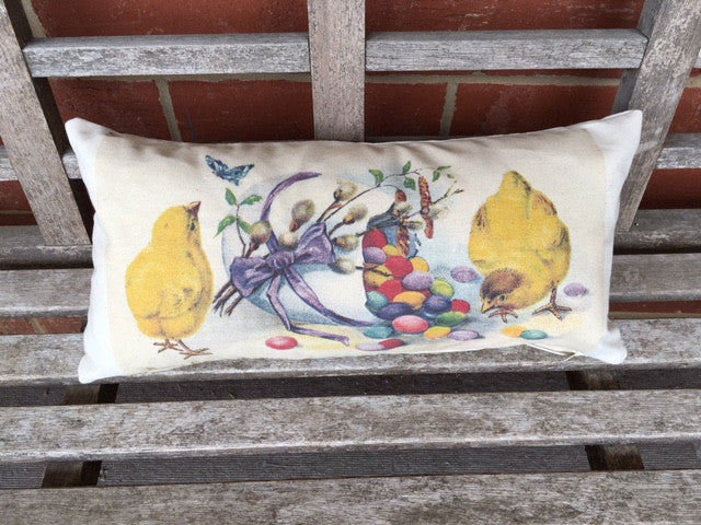pillow cover - chicks with jelly beans