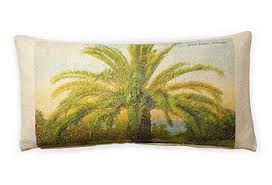 Pillow vintage beach cover 10x20- Post Card palm tree