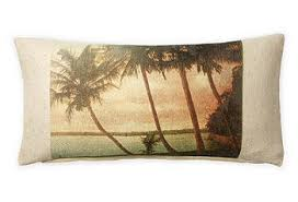 Pillow vintage beach 10x20- Post Card palm/beach tree