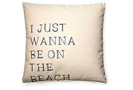 pillow - vintage beach - 20 x 20 with beach quote print