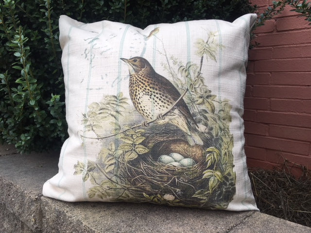 bird pillow covers - 2 styles