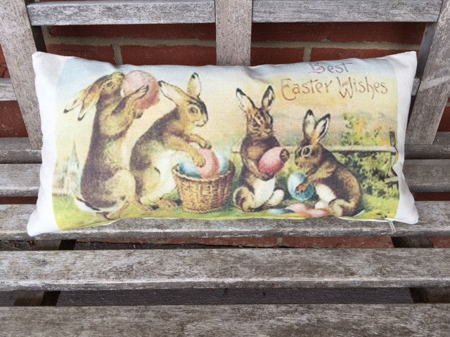 Easter pillow covers - select from 3 vintage rabbit styles