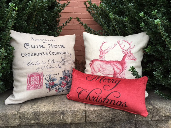 Christmas Red Pillow cover collection - select from 3 styles