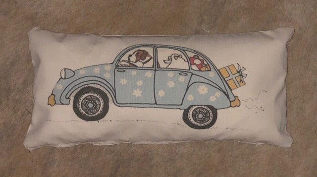 dogs driving cars collection pillow covers- select from 5 different images