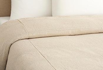 custom duvet self flat flange  - natural  collection select fabric