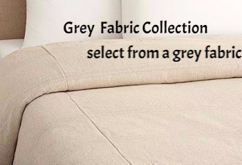 custom duvet  flat flange- grey collection select fabric