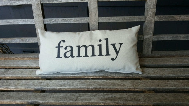 pillow covers- 10 x 20 - select from 4 words