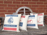 pillow cover- vintage feed sack images - 4 images avaiable