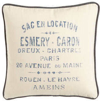 pillow 20 x 20 marine french words