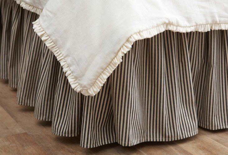 Dust Skirt  - brownTicking