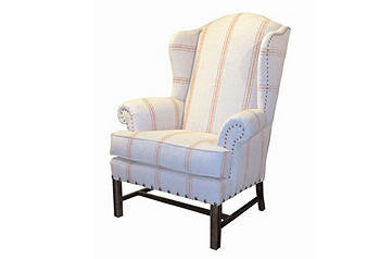 furniture - Franklin wing chair- classic red stripe