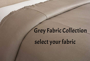 -custom duvet   mini ruffle- grey collection select fabric