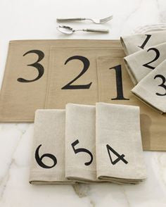 Number Napkins and Placemats