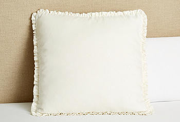 Sham Euro Ruffled- cream linen