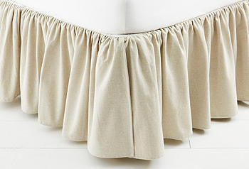 custom gathered dust skirt  - natural  collection select fabric