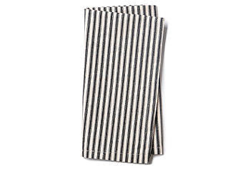 Black Ticking Napkins