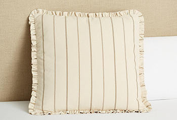 Sham Euro Ruffled-neutral stripe