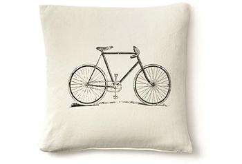 pillow cover -bicycle