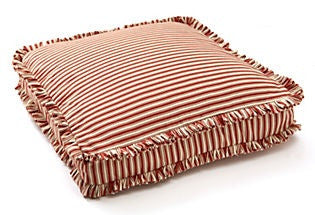 pillow cover 20 x 20 red ticking box