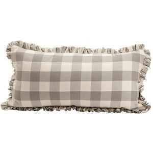 pillow cover 18 x 34 grey buffalo