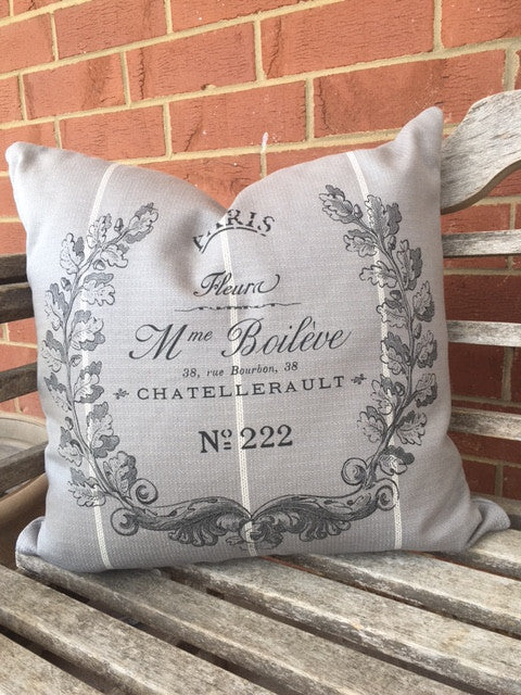 Grey Woven Pillows