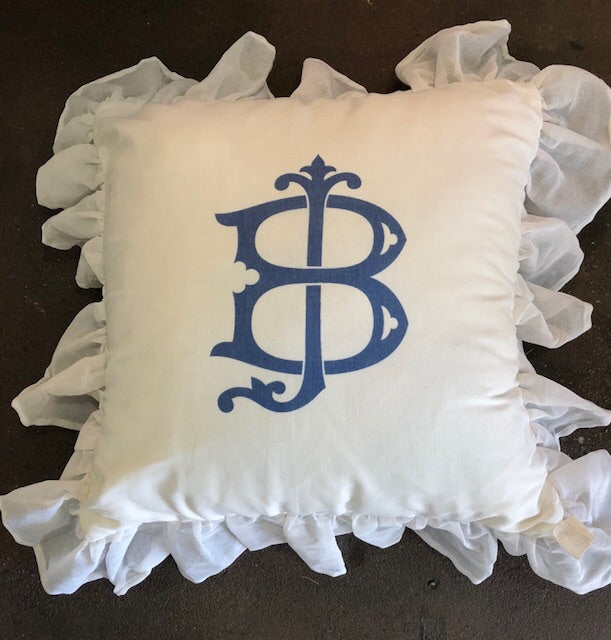 Large Monogram with Ruffle