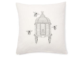 pillow 20 x 20 bee hive