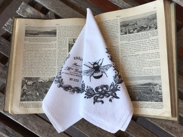 napkins set of 4- flour sack fabric - pick from 2 images