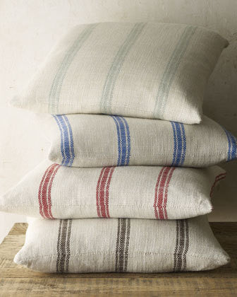pillow covers - 20 x 20 Classic stripes - select from 5 colors