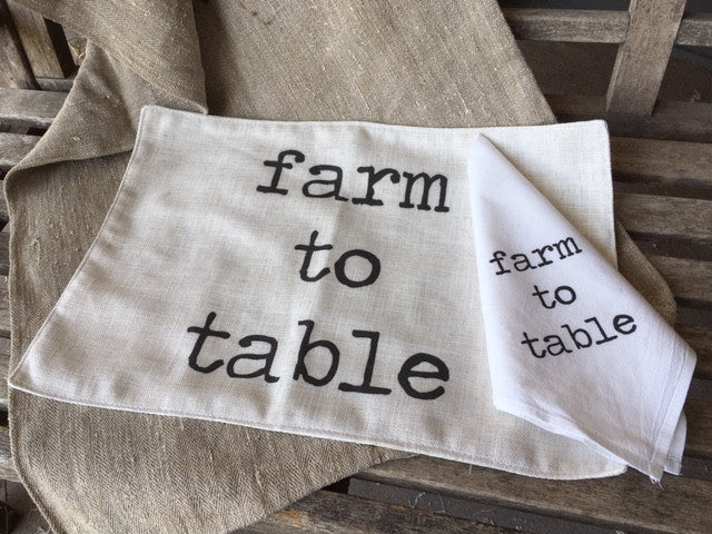tabletop - farm to table - napkins and placemats