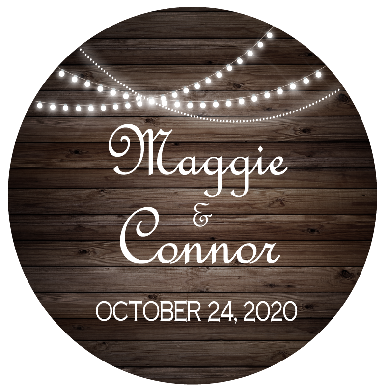 Country Lights Wedding Favors Premier Personalized Candles