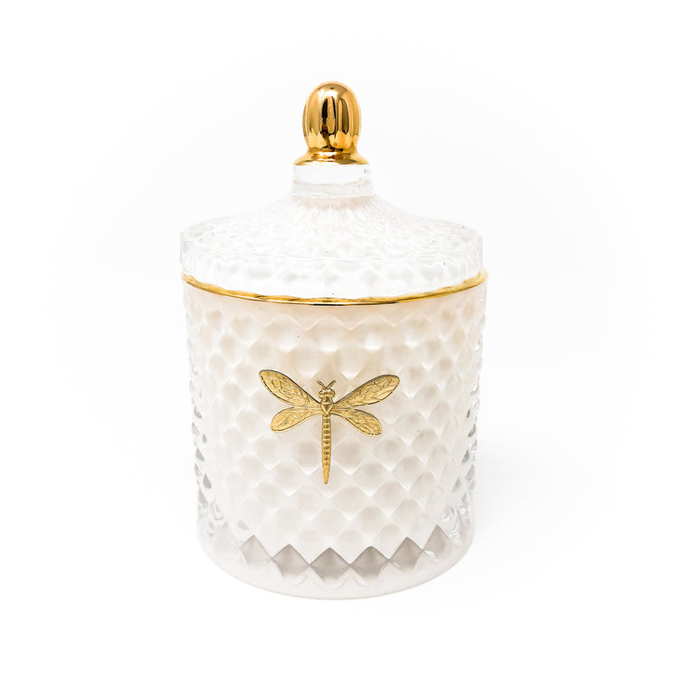 Bella White & Gold Luxe Candle