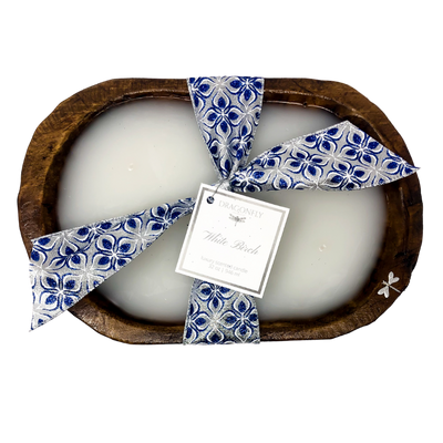 Dough Bowl Candle Wide - Hanukkah