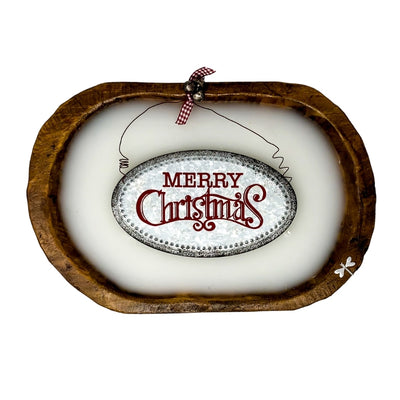 Dough Bowl Candle Wide - Merry Christmas