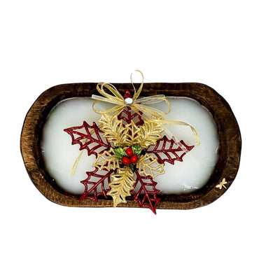 Dough Bowl Candle - Poinsettia