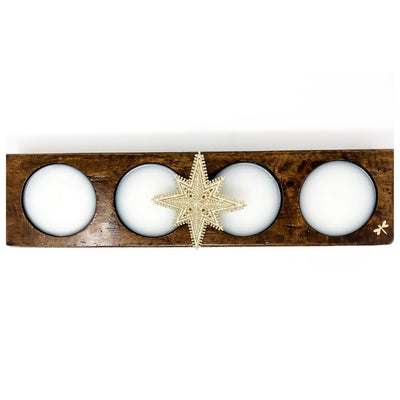 Wood Mold Holiday Candle with Star